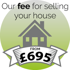 Our fee for selling your house - as little as £695.00